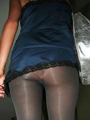 Paris Hilton pantyhose no panty upskirts