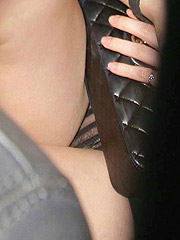 Emma Watson upskirt of her see thru panties