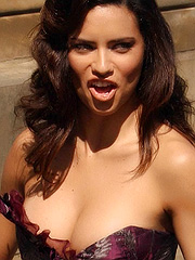 Adriana Lima on the set of ugly betty