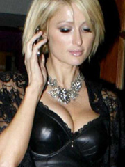 Paris Hilton slutty outfit to the opera