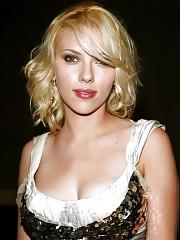 Scarlett Johansson oops and cleavage pix