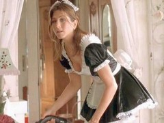 Jennifer Aniston in sexy maid uniform