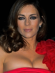 Elizabeth Hurley the queen of cleavage