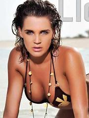 Danielle Lloyd sexy posing for calender