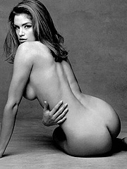 Cindy Crawford posing and revealing her sexy butt