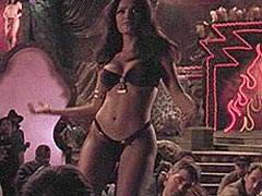 Salma Heyek great cleavage in striptease scenes
