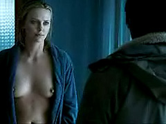 Charlize Theron showing her nice breasts
