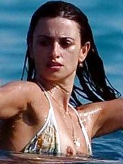 Penelope Cruz bikini nipple slip shots