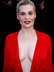 Emmanuelle Seigner busts braless cleavage