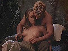 Alyssa Milano nude as a guy squeeze her breasts