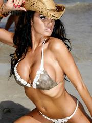 Katie Price is see through and bikini