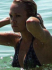 Carrie Underwood perky tits in black bikini