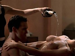 Neve Campbell & Denise Richards Threesome Scene from 'Wild...