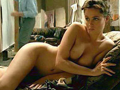 Emmanuelle Beart nude poses for a guy