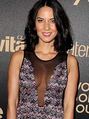 Olivia Munn gives see through cleavage peek