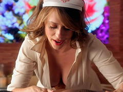 Jennifer Love Hewitt cleavage in nurse outfit