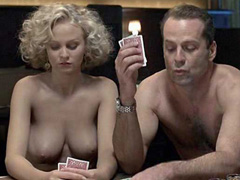 AngelicaTorn topless playing strip poker