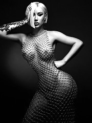 Iggy Azalea Tits in See Through Mesh Dress