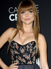 Sarah Hyland breasts busting out of dress