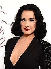 Dita von Teese at british fashion awards