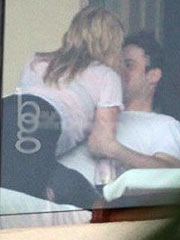 Hilary Duff caught making out with a guy