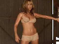Jennifer Aniston does hot and wet striptease