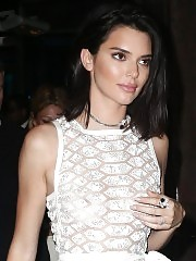 Kendall Jenner Nipples In See Through White Dress