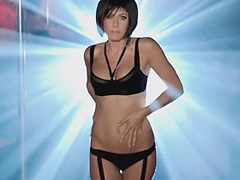 Jennifer Aniston in lingerie does hot striptease