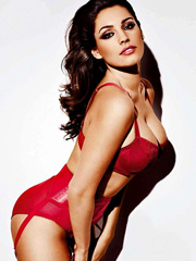 Kelly Brook busty in lingerie for nuts magazine
