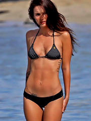 Megan Fox skinny but hot body in a bikini