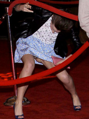 Emma Watson oops flashes off panty upskirt