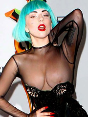 Lady Gaga oops another wardrobe malfunction