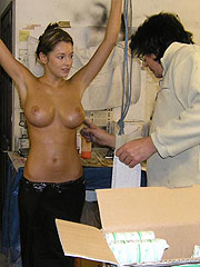 Keeley Hazell showing biggest nude boobs