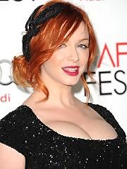 Christina Hendricks showing her big boobs