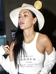 Nicole Scherzinger Nipples in See Through White Top