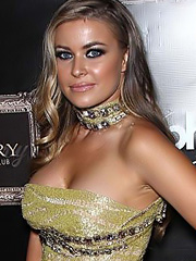 Carmen Electra hot and shows amazing cleavage