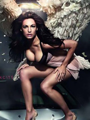 Kelly Brook is hot and naughty fallen angel