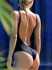 Michelle Hunziker ass is spectacular