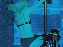Ashley Scott great ass while doing striptease