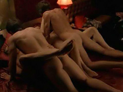 Alison Whyte having group love sex scene