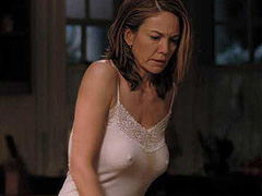 Diane Lane flashes hard nipples in tank top
