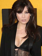 Daisy Lowe shows some hot busty cleavage