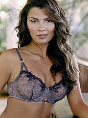 Ali Landry big boobs squeezed in sexy bra
