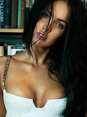 Megan Fox tease with perky tits squeezed in dress