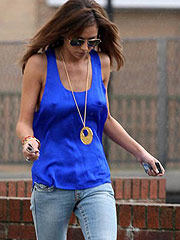 Cheryl Tweedy hard nipples thru blue shirt