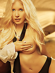 Heidi Montag nude but covered in playboy