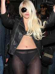 Lady GaGa hot ass in see through leggings