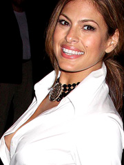 Eva Mendes nipple slip out of her top