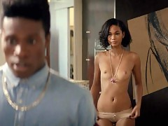 Chanel Iman Nude Scenes Compilation from 'Dope'