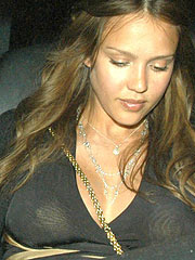 Jessica Alba sexy upskirt ass and see through